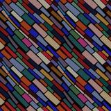 Naadloos patroon met mozaïekornament Stock Afbeelding