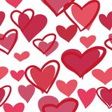 Naadloos patroon met multicolored harten op een witte achtergrond vector illustratie