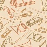 Naadloos patroon met muzikaal instrument royalty-vrije illustratie