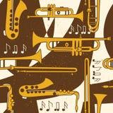 Naadloos patroon met muzikale instrumenten royalty-vrije illustratie