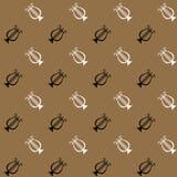 Naadloos patroon met muzikale instrumentenharp Royalty-vrije Stock Afbeelding