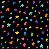 Naadloos patroon met nachthemel Stock Afbeelding