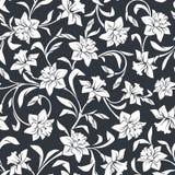 Naadloos patroon met narcissenbloemen Vector illustratie Stock Afbeeldingen