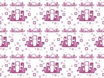Naadloos patroon met octopus Stock Foto