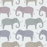 Naadloos patroon met olifant Stock Afbeelding