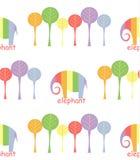 Naadloos patroon met olifanten Stock Afbeelding
