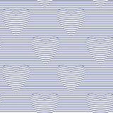 Naadloos patroon met optische illusieharten vector illustratie