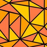Naadloos patroon met oranje driehoek Royalty-vrije Stock Afbeelding