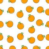 Naadloos patroon met oranje fruit Stock Foto
