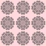 Naadloos patroon met ornamenten Stock Foto