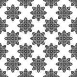 Naadloos patroon met overladen Decoratieve bloemen op een witte achtergrond Stock Afbeeldingen