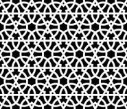 Naadloos patroon met overlappende geometrische vormen die abstract ornament vormen Vector modieuze textuur in zwart-wit vector illustratie