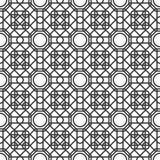 Naadloos patroon met overlappende geometrische vormen die abstract ornament vormen Stock Afbeelding