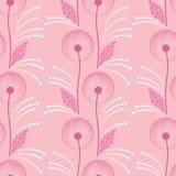 Naadloos patroon met paardebloem in roze en punten Royalty-vrije Stock Foto's