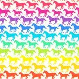 Naadloos patroon met paarden Royalty-vrije Stock Foto