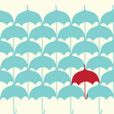 Naadloos patroon met paraplu Stock Afbeelding