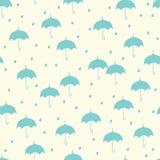 Naadloos patroon met paraplu Royalty-vrije Stock Afbeeldingen