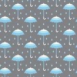 Naadloos patroon met paraplu's Stock Afbeelding