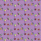 Naadloos patroon met paraplu's Stock Fotografie
