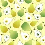 Naadloos patroon met peren en perenplakken Royalty-vrije Stock Foto