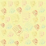 Naadloos patroon met pictogramboeken Stock Afbeeldingen