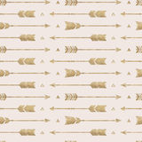 Naadloos patroon met pijlen Stock Illustratie