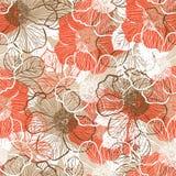 Naadloos patroon met pioen Stock Afbeeldingen