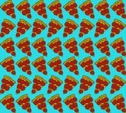 Naadloos patroon met plakken van pizza Vector illustratie Royalty-vrije Stock Fotografie