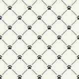 Naadloos patroon met pootdrukken Royalty-vrije Stock Foto's