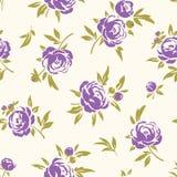Naadloos patroon met purpere bloemen Stock Afbeeldingen