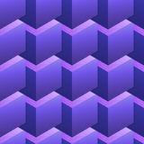 Naadloos patroon met purpere kubussen royalty-vrije illustratie