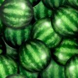 Naadloos patroon met rijpe watermeloenen royalty-vrije stock foto's