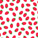 Naadloos patroon met rode bessen stock afbeelding