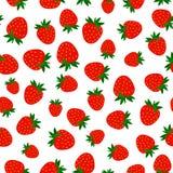 Naadloos patroon met rode bessen stock foto
