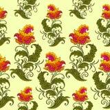Naadloos Patroon met rode bloem Stock Foto's