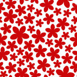 Naadloos patroon met rode bloemen Stock Afbeeldingen