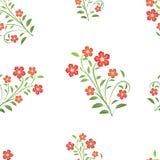 Naadloos patroon met rode bloemen Stock Afbeelding