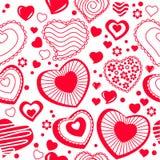 Naadloos patroon met rode contourvormen Stock Fotografie