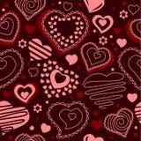 Naadloos patroon met rode contourvormen Royalty-vrije Stock Foto