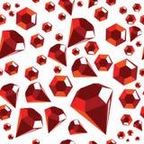 Naadloos patroon met rode diamanten Royalty-vrije Stock Foto