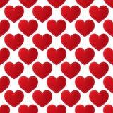Naadloos patroon met rode harten Stock Afbeeldingen