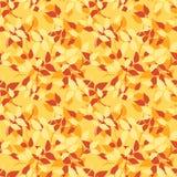Naadloos patroon met rode, oranje en gele de herfstbladeren Vector illustratie Stock Fotografie