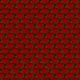Naadloos patroon met rode robijnen Stock Afbeelding