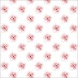 Naadloos patroon met rode spiraalvormige krullen. Vector Illustratie