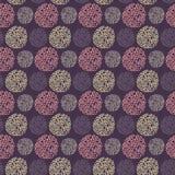 Naadloos patroon met ronde krabbelelementen Royalty-vrije Stock Fotografie