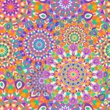 Naadloos patroon met ronde mandalas Royalty-vrije Stock Fotografie