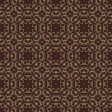 Naadloos patroon met ronde Oosterse elementen Arabische Oosterse Turkse motieven Stock Foto