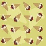 Naadloos patroon met roomijs Stock Afbeelding