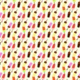 Naadloos patroon met roomijs Vector Illustratie