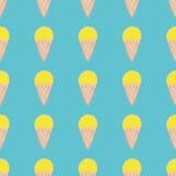 Naadloos patroon met roomijs Leuke achtergrond in uitstekende retro stijl royalty-vrije illustratie